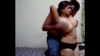 Big Boobs Indian Lady with Boyfriend