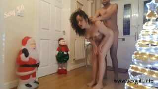 Santa Giving Gift to Horny Wife