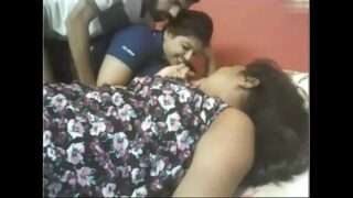 Desi Threesome Video Two Chubby Girls with Lover